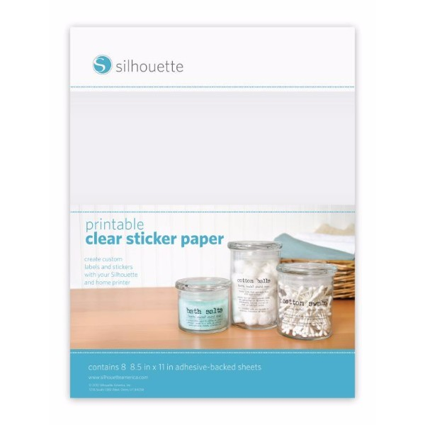 Silhouette Printable Sticker Paper - Clear No Colour