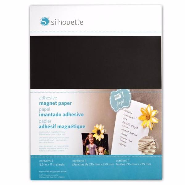 Silhouette Adhesive Magnet Paper No Colour