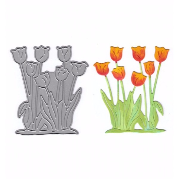 Joanna Sheen Signature Dies - Tulips No Colour
