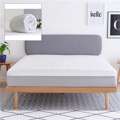Dormeo Wellsleep Hybrid Double Mattress with Evercomfy 13.5 Tog Double Duvet