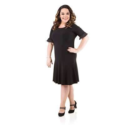 Just Be You Chiffon Trim Dress