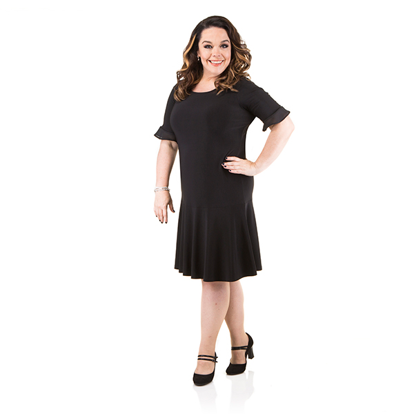 Just Be You Chiffon Trim Dress Black