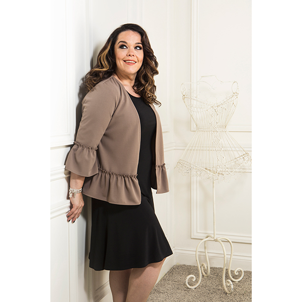 Just Be You Crepe Frill Jacket Mocha