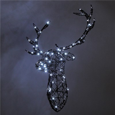 Decorative Reindeer Head - Multicolour