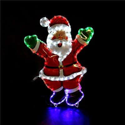 Waving Santa with Coloured PVC Backgroun