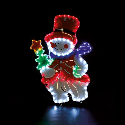 Snowman with Coloured PVC Background