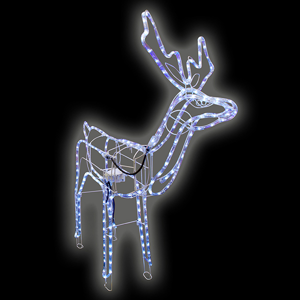 Standing Reindeer Rope Light No Colour