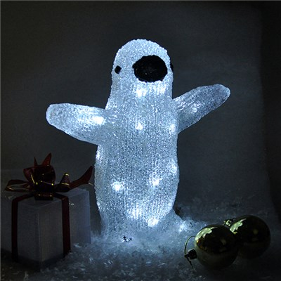 Penguin Crystal Effect Light