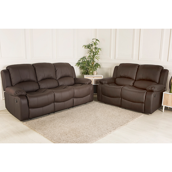 Chicago Bonded Leather Three plus Two Suite Brown