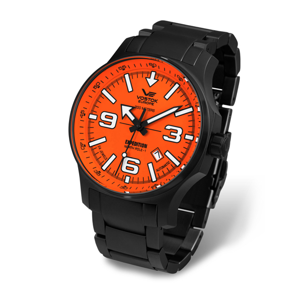 Vostok Europe Gent's Expedition N1 Automa Black/Orange