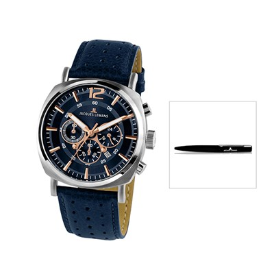 Jacques Lemans Lugano Chronograph with FREE Pen