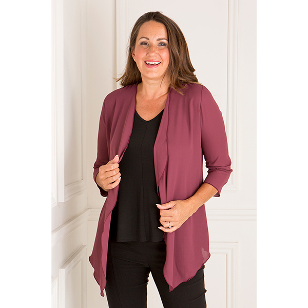 Nicole Georgette Soft Jacket Wine
