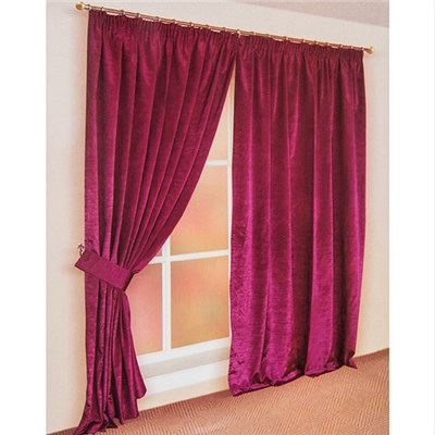 Faux Silk (90 inches x) 3 inch Lined Tape Header Curtains