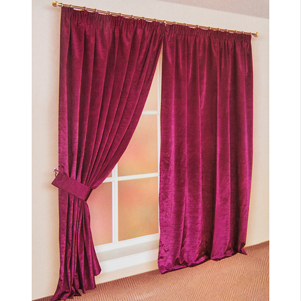 Faux Silk (46 inches x) 3 Inch Lined Tape Header Curtains Pink