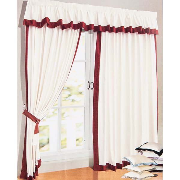 Claremont (66 inches x) Tape Header Lined Curtains Wine