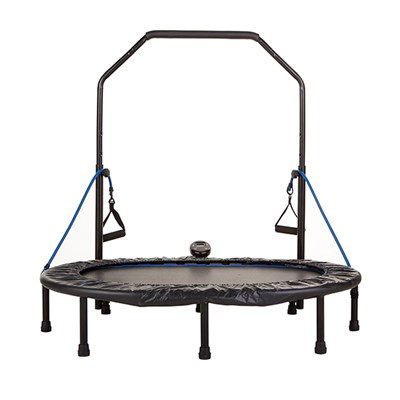 AeroBound Oval Trampoline with Resistance Bands and Calorie Counter