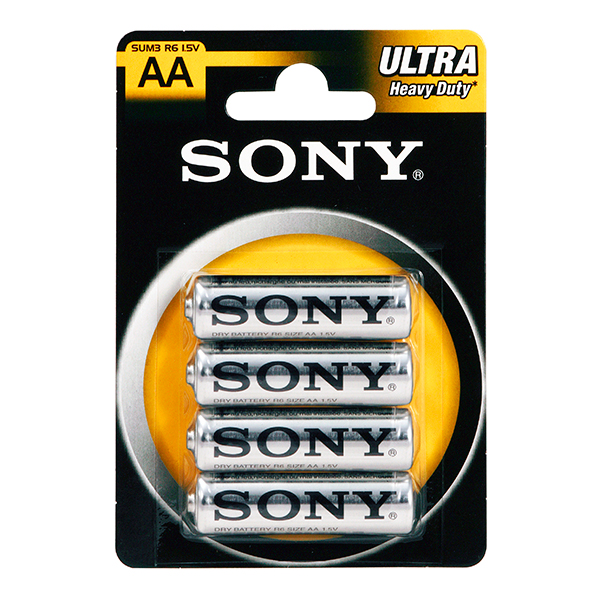 4 x Sony AA Batteries No Colour