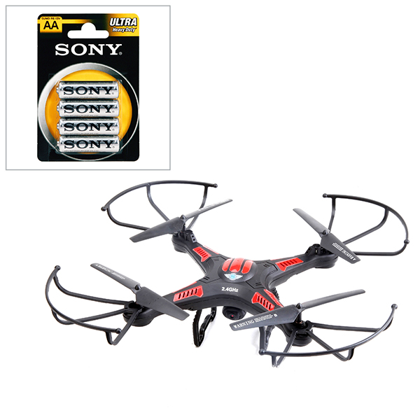 X-Cam Remote Controlled Flying Drone with Camera & 4 x AA Batteries No Colour