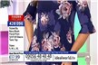 Styled By Navy Blush Floral Print 3/4 Frill Sleeve Tunic Top