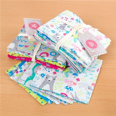 Into the Woods Fabric Bundle includes 10 Fat Quarters and Charm Pack