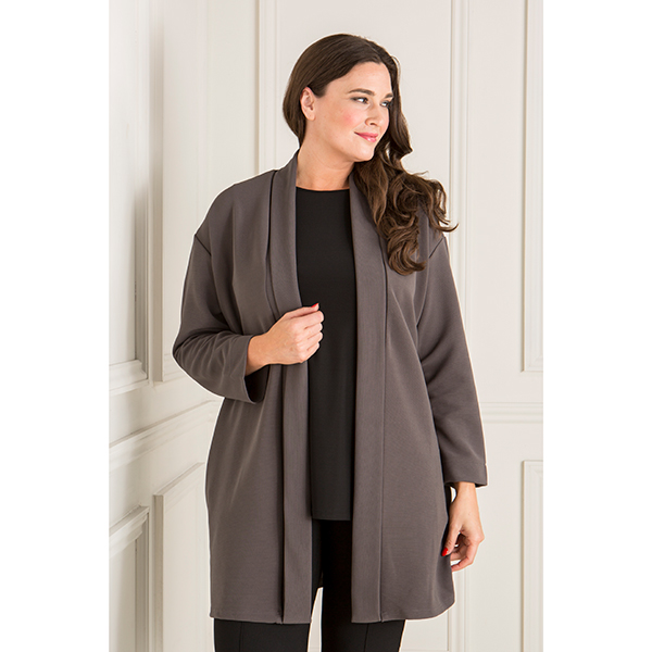 Anamor Edge To Edge Jacket Slate