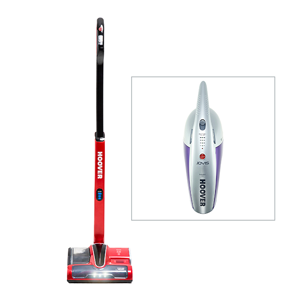 Hoover Sprint Cordless Vacuum with Hoover Jovis 14.4v Handheld Vacuum No Colour