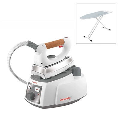 Polti Vaporella 525 Pro Steam Generator Iron with Polti Vaporella Essential Ironing Board