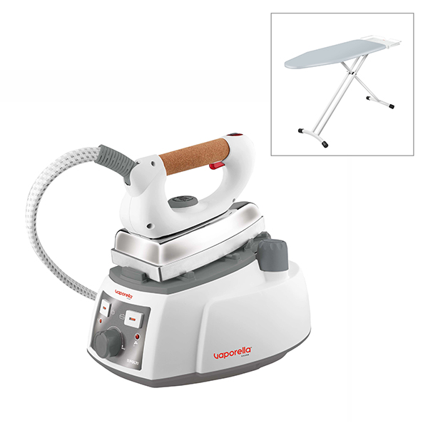 Polti Vaporella 525 Pro Steam Generator Iron with Polti Vaporella Essential Ironing Board Silver