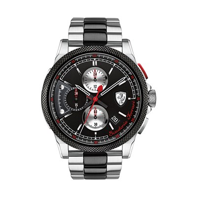 Scuderia Ferrari Gents Formula Italia S Chronograph Watch with Two Tone Stainless Steel Bracelet