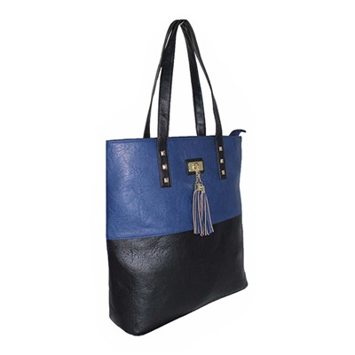 Colour Block Shopper Bag