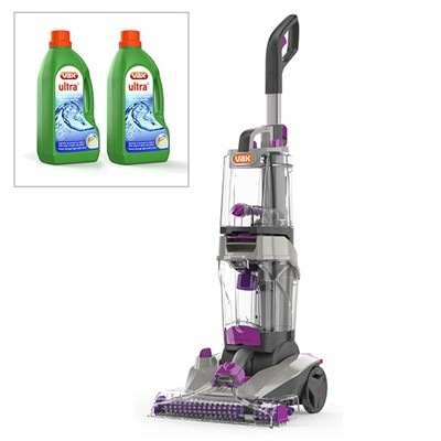 Vax Rapid Power Advance Carpet Washer ECJ1PAV1 (6yr Guarantee) and 3L Carpet Cleaner