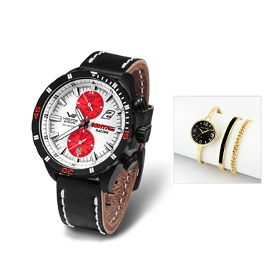 Vostok Europe Gent's Scott Free Racing Chronograph with FREE Ladies' Watch