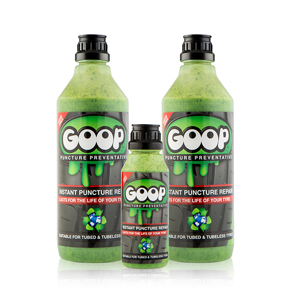 Goop Puncture Preventative 1L (Twin Pack) and 250ml Bottle No Colour