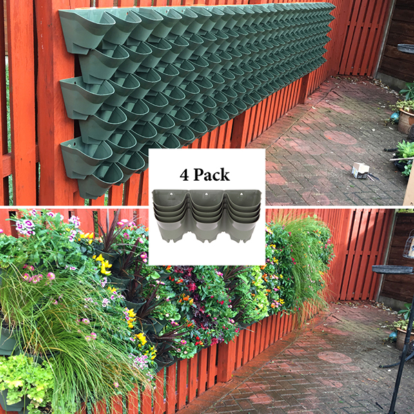 WonderWall Vertical Wall Planter System - 4 Pack No Colour