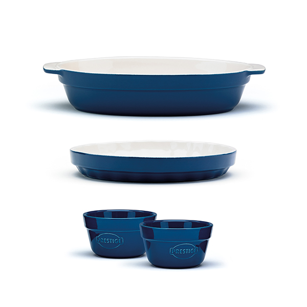 Prestige Vintage Oven to Tableware 3 Piece Set Blue