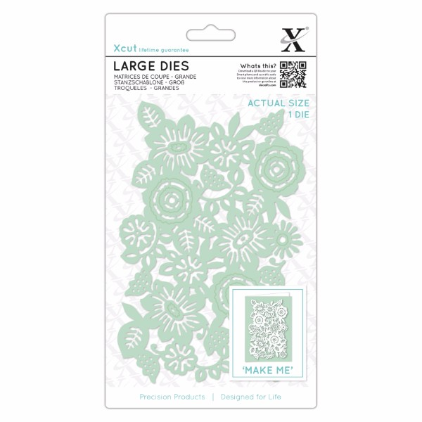 Xcut Large Dies (1pc) - Floral Panel No Colour