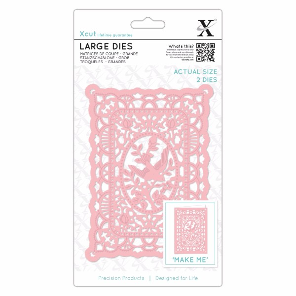 Xcut Large Dies - 2pcs - Lace Frame No Colour