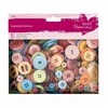 Papermania Assorted Buttons (250g) - Mixed Bright