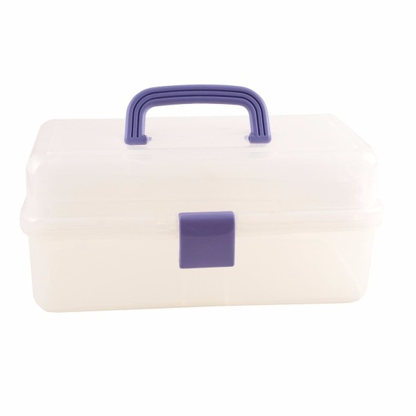 docrafts Clear Caddy (Blue Handle and Catch) No Colour