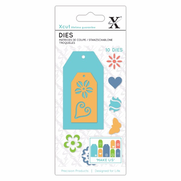 Xcut Small Dies (11pcs) Floral Gift Tags No Colour