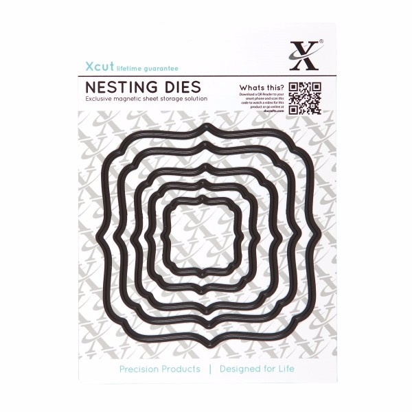 Xcut Nesting Dies (5pcs) - Square Parenthesis No Colour