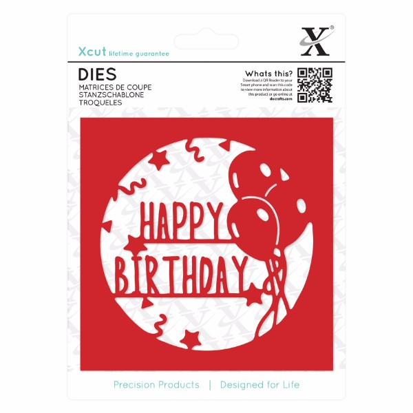 Xcut Dies 1pc - Happy Birthday Topper No Colour
