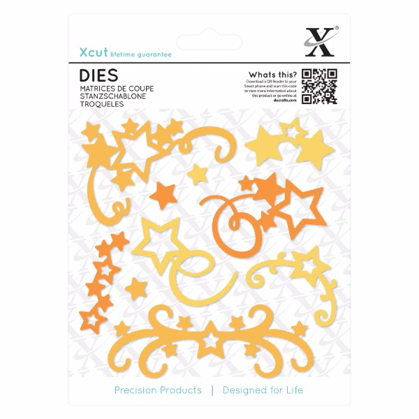 Xcut Dies (10pcs) - Star Flourish No Colour