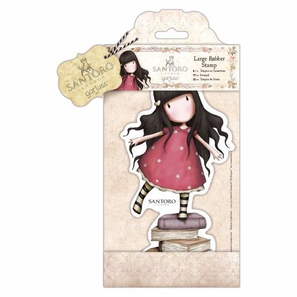 docrafts Santoro Gorjuss Large Rubber Stamp - New Heights No Colour