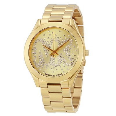 Michael Kors Ladies' Slim Runway Watch with Stainless Steel Bracelet