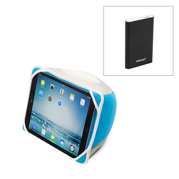 iLounge Tablet Stand for iPad 3 with Intempo 8000 mAh Power Bank Charger No Colour