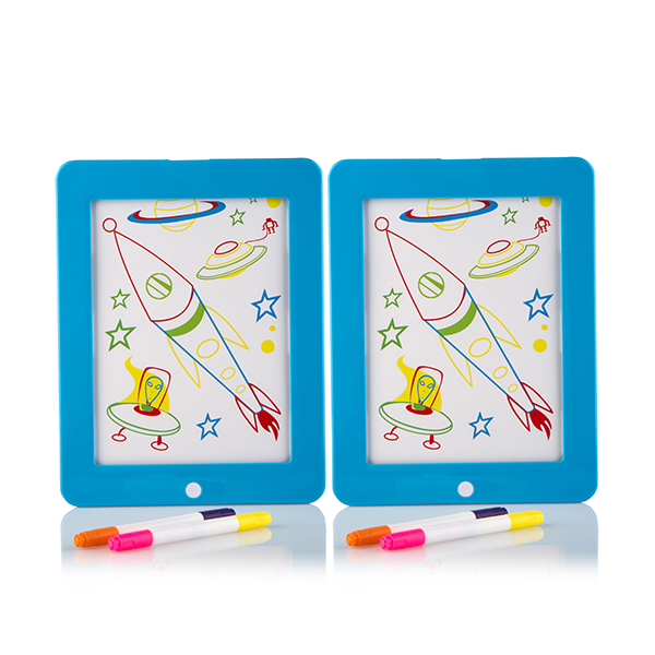 Glow Crazy Light Up Creative Board Twin Pack Blue