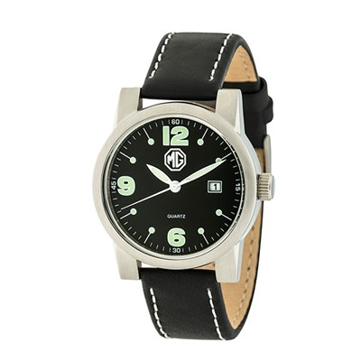 MG Gent's Watch with Genuine Leather Strap