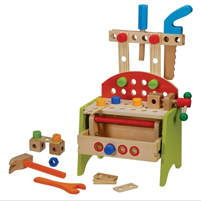 Kids' Wooden Work Bench