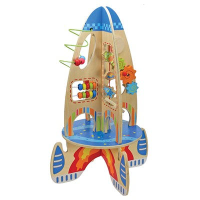 Wooden Large Multi Activity Space Rocket